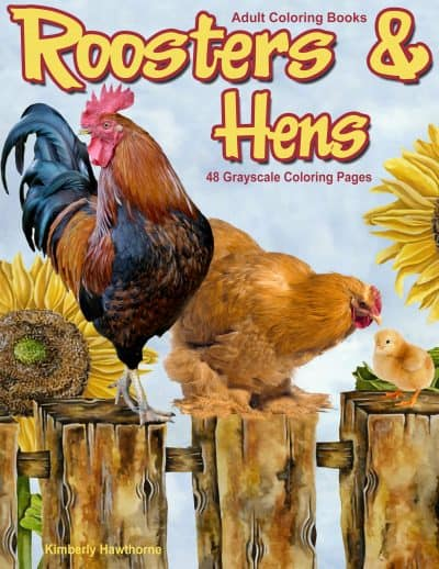 Roosters & Hens adult coloring book