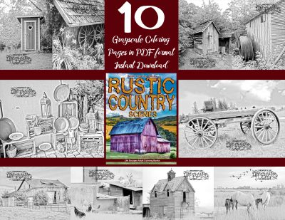 Rustic Country coloring pages