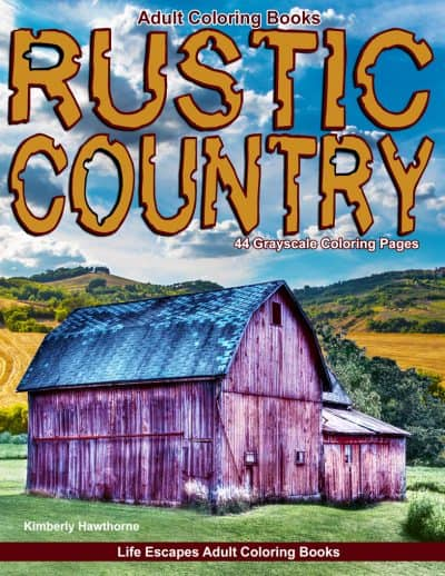 Rustic Country adult coloring book
