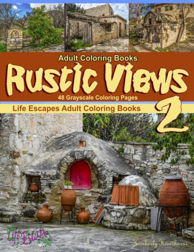 Rustic Views 2 adult coloring book