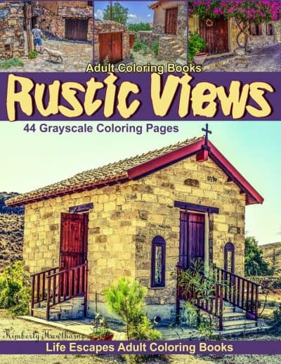 Rustic Views adult coloring book