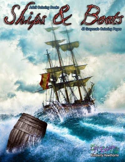 Ships & Boats adult coloring book