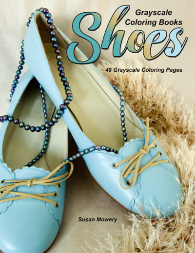 Shoes adult grayscale coloring book pdf