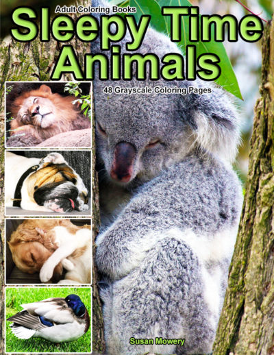 Sleepy Time Animals adult coloring book pdf