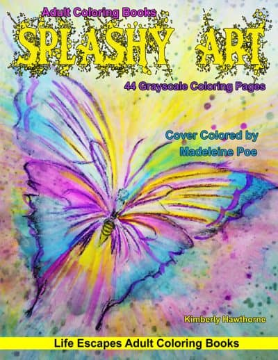 Splashy Art adult coloring book