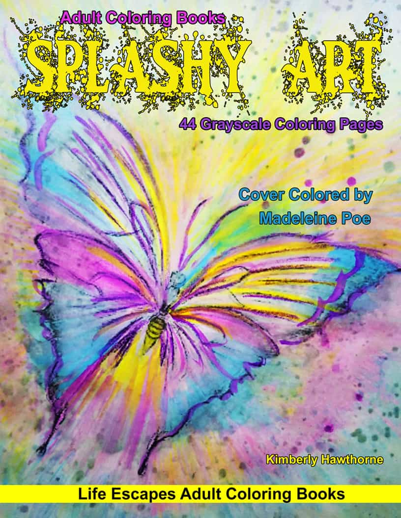 Splashy Art Coloring Book for Adults | Adult Coloring Books from ...
