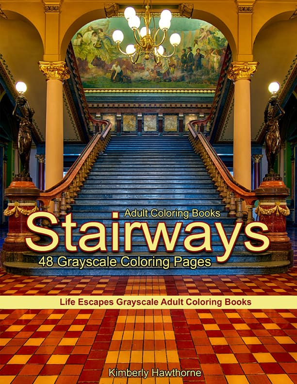 Stairways coloring pages