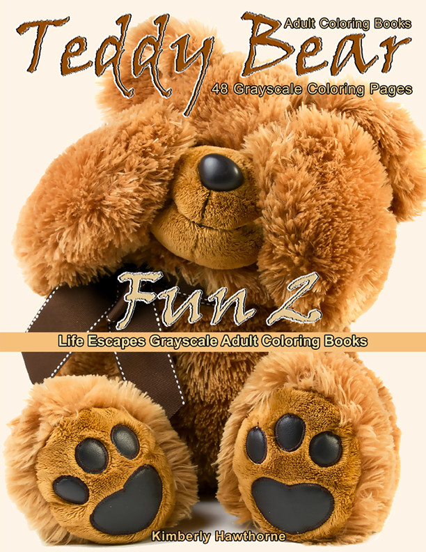 Teddy Bear Fun 2 adult coloring book