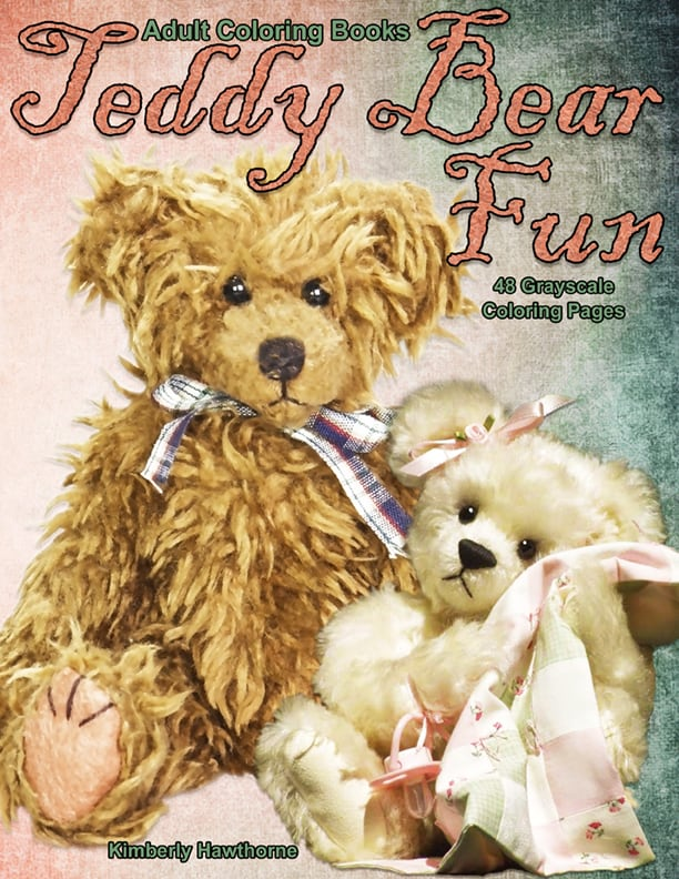 - Teddy Bear Fun Adult Coloring Book PDF Life Escapes Adult Coloring Books  PDF