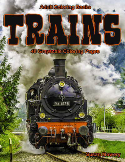 Trains adult coloring book pdf