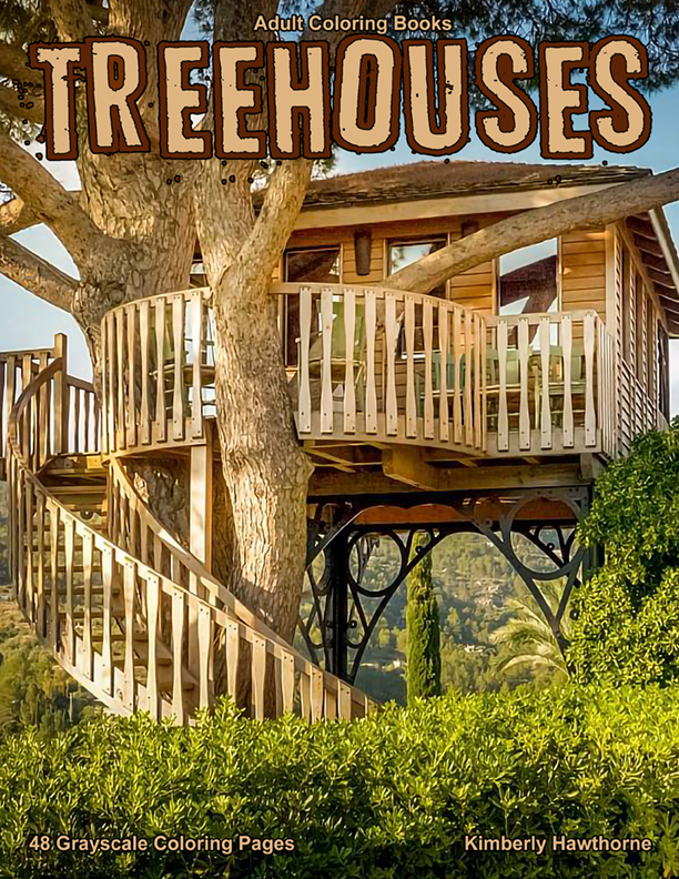 Treehouses coloring book