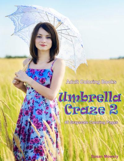 Umbrella Craze 2 grayscale coloring book