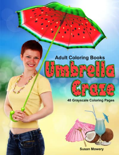 Umbrella Craze adult coloring book pdf