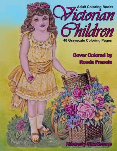 Victorian Children Adult Coloring Book
