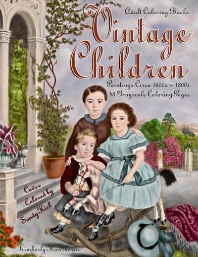 Vintage Children Adult Coloring Book