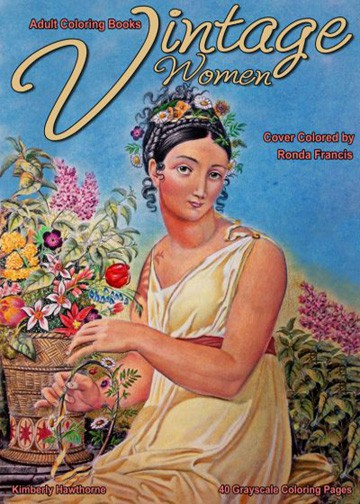 Vintage-Women-adult-coloring-book