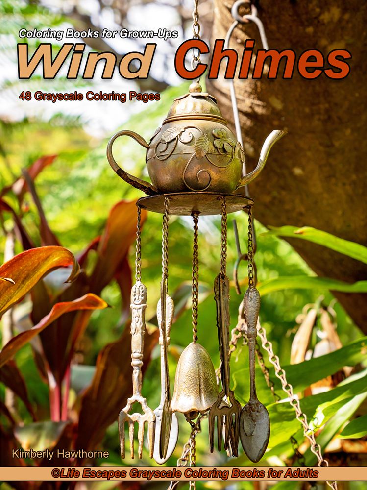 Wind Chimes adult coloring book