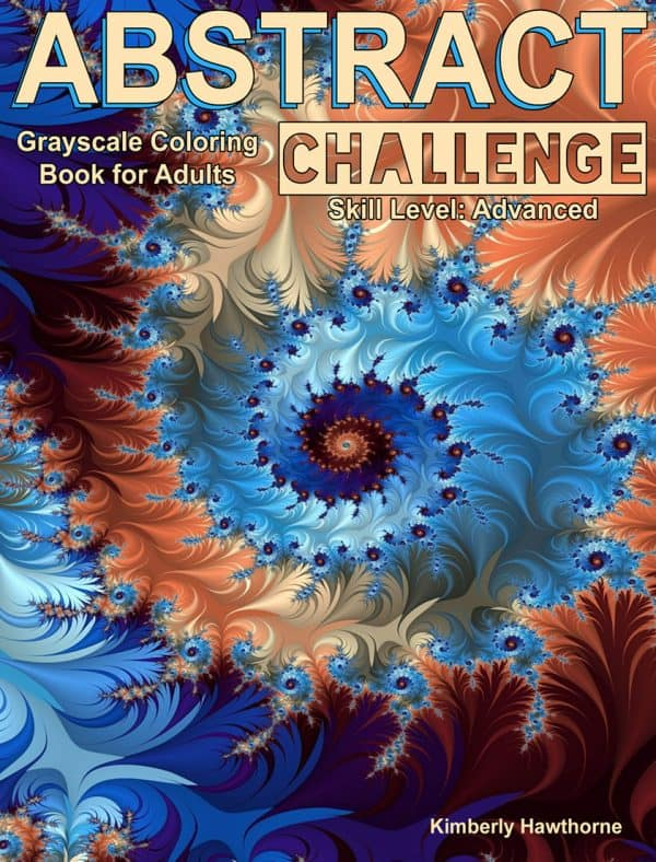 abstract challenge grayscale coloring book for adults