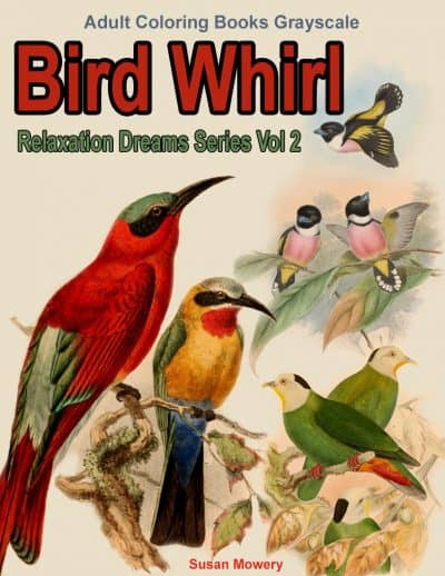 adult coloring books birds