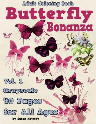 butterly bonanza adult coloring book