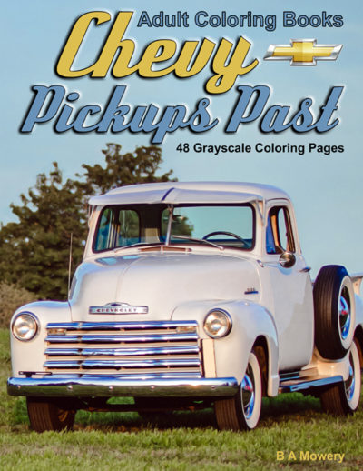 chevy pickups past grayscale coloring book for adults pdf