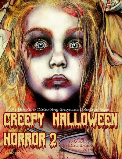 Creepy Halloween Horror 2 Adult coloring book pdf