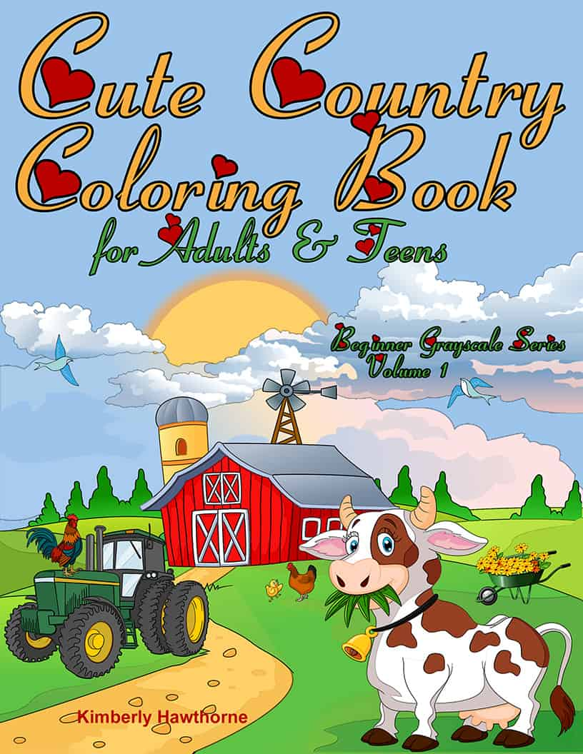 Vintage Country Scenes Adult Coloring Book