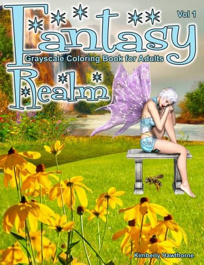 fantasy realm v1 coloring book for adults