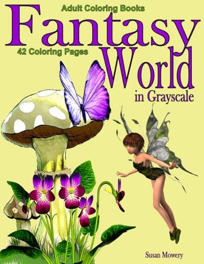 fantasy world coloring books for adults