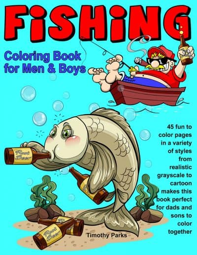 fishing coloring books for men