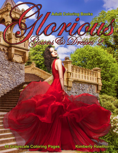 Glorious Gowns & Dresses 2 Adult coloring book pdf