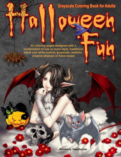 halloween fun adult coloring book