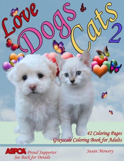 love dogs cats 2 adult coloring book