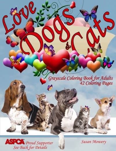 love dogs cats coloring book for adults