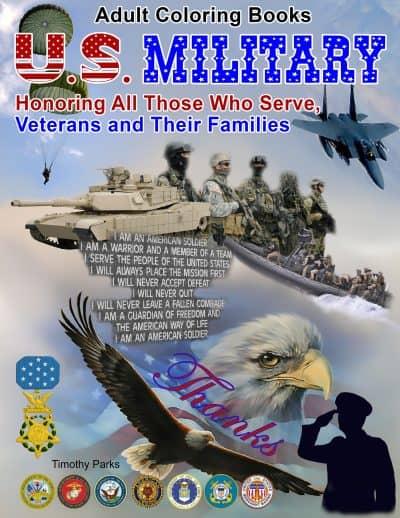 u.s. military adult coloring book