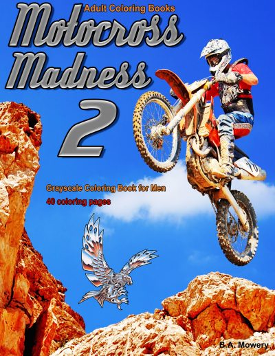 motocross Madness 2 coloring book for men