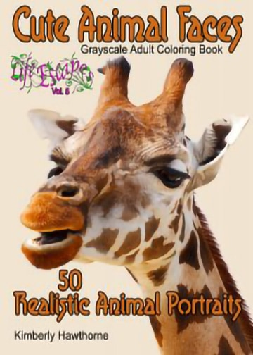 cute animal faces adult coloring book