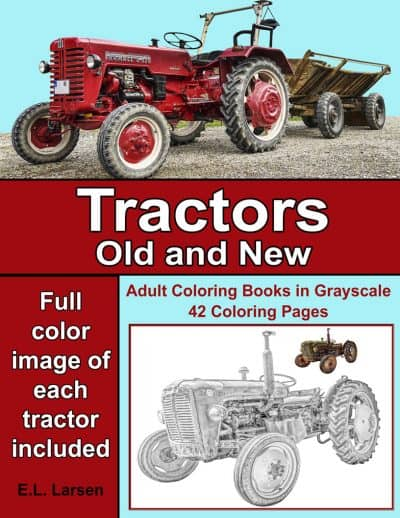 tractors adult coloring book