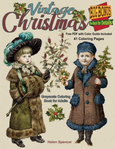 vintage christmas coloring book for adults
