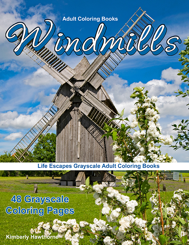 windmills country coloring book