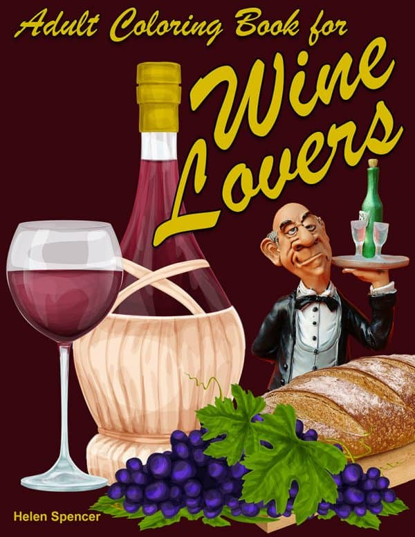 wine lovers coloring book for adults
