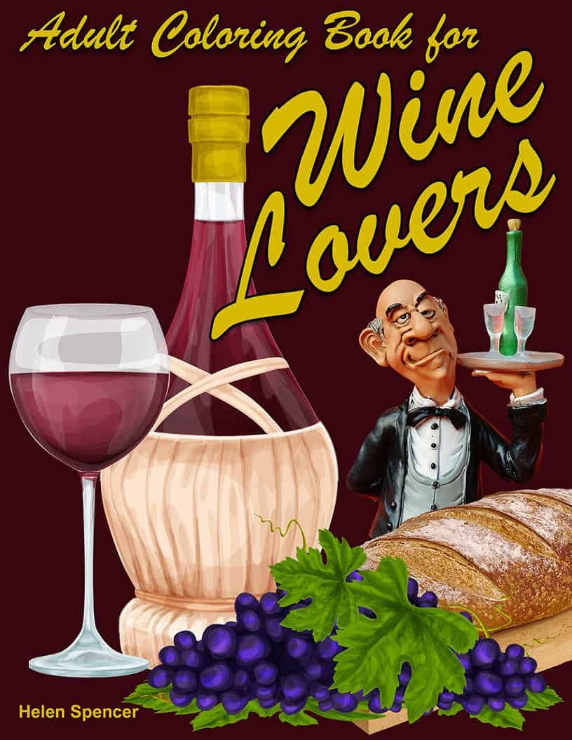 Adult Coloring Book For Wine Lovers