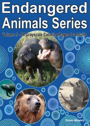 endangered animals adult coloring book